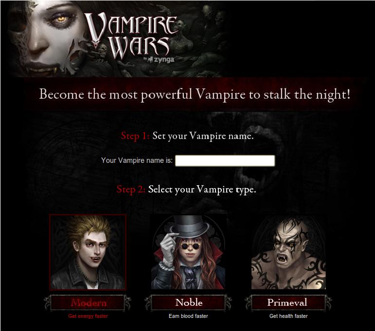 Juego Facebook: Vampire Wars