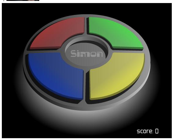 Simon, juego de Memoria en Facebook