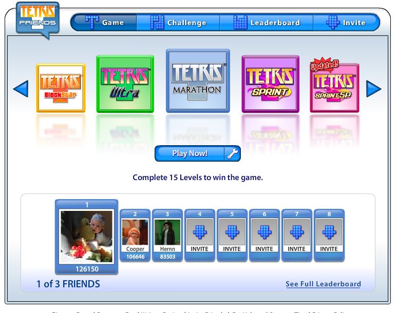 Tetris en Facebook