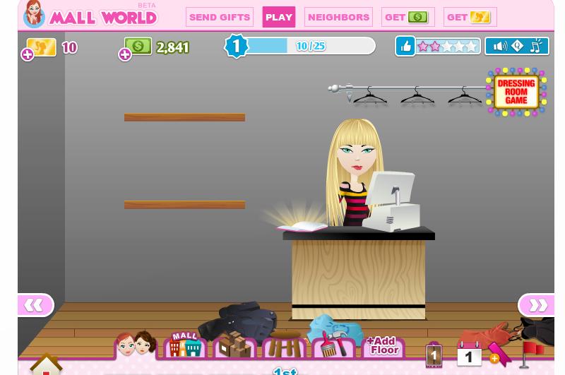 Mall World juego de mujeres en Facebook