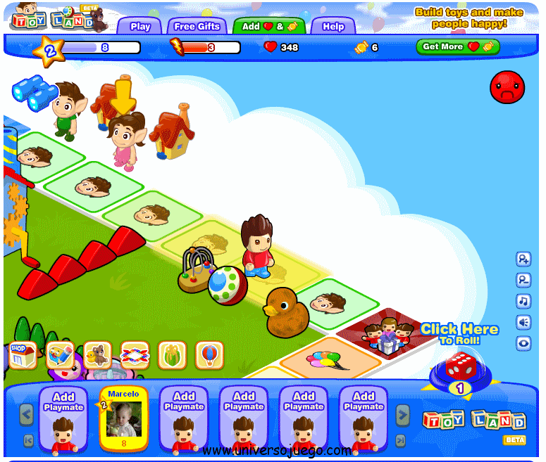 Toy Land, juego para los nenes en Facebook