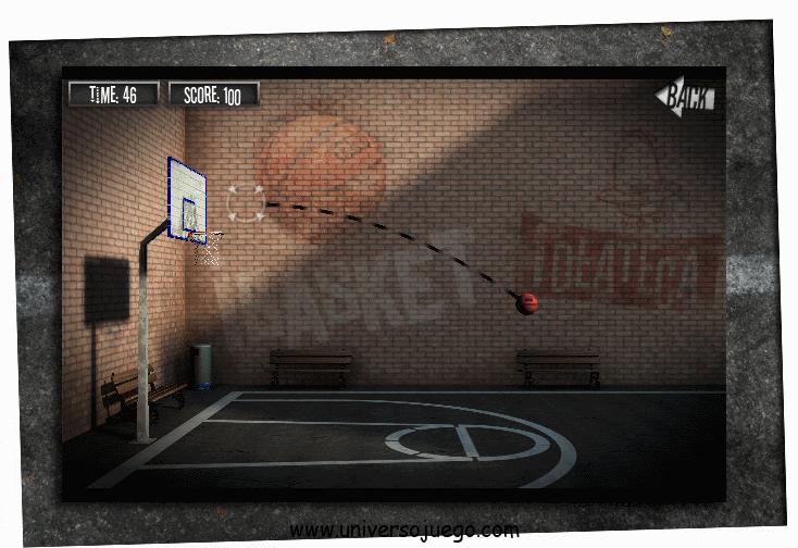 iBasket en Facebook, juego de basket online