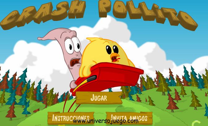 Crash Pollito, hace saltar a tu pollo lo mas alto posible