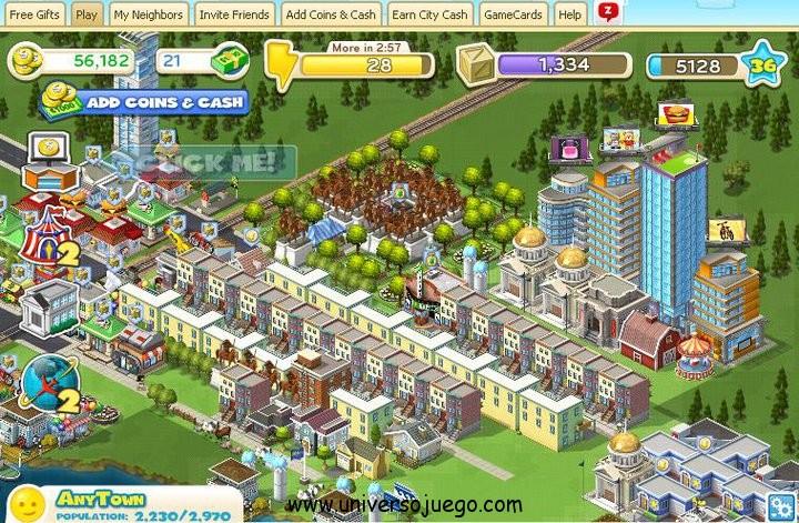 City Ville, ahorrar energia y maximizar ganancias