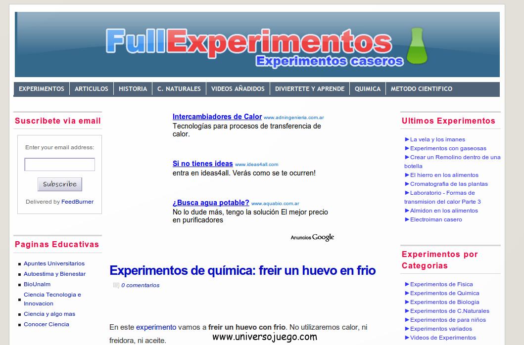 Full experimentos, un sitio para crear nuestros propios experimentos
