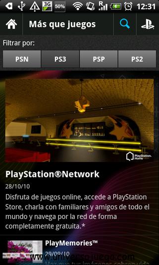 Aplicacion oficial de Play Station para moviles con Android