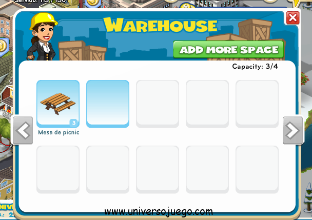 Warehouse en City Ville