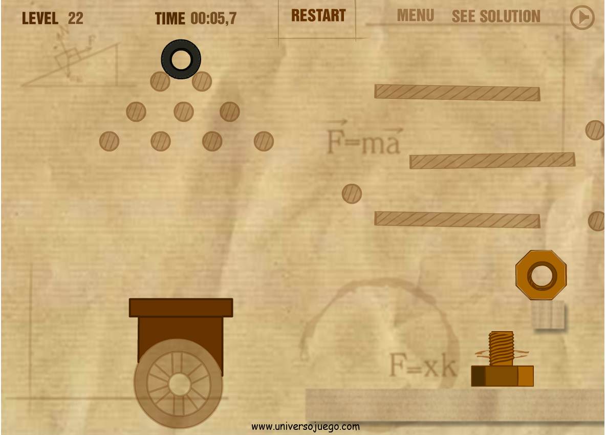 Screw the Nut, juego de inteligencia online