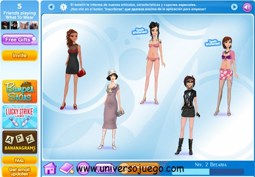 Juego para Facebook: What to Wear