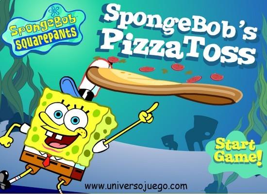 Juego en flash de Bob esponja Pizza Toss