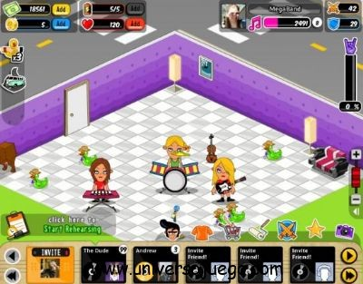 Forma tu banda en Megaband – juego para facebook