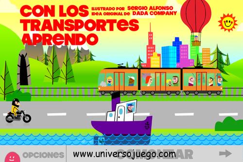 """""""Con los transportes aprendo"""", juego de aprendizaje para los mas pequeños para iPhone y iPad"""
