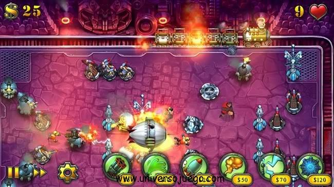 Fieldrunners juego de acción para Android