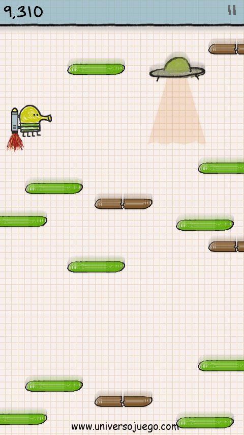 Doodle jump juego sencillo pero adictivo para Android