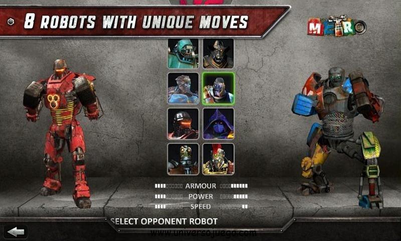 Real Steel, combates clandestinos de robots en Android