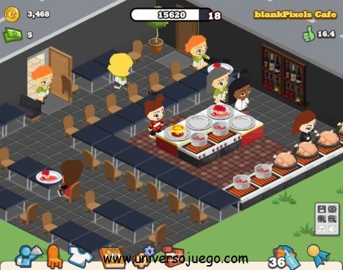 Cafe world, juego para Facebook