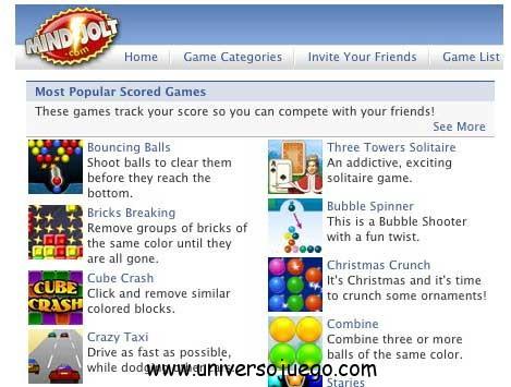 Mindjolt, magnífica aplicación para jugar en Facebook