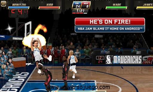 NBA JAM, juego de baloncesto de EA Sports para Android