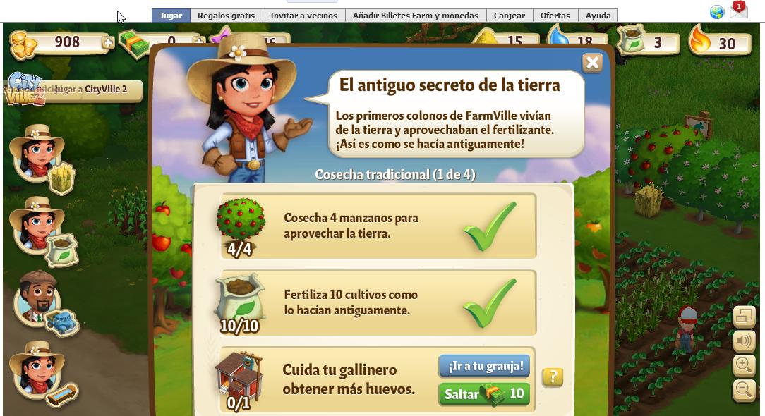 FarmVille 2, cumplir las misiones